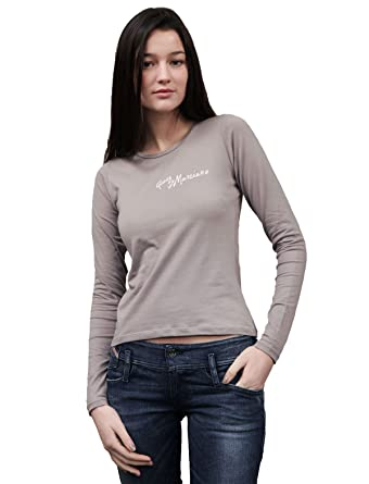 44c0709b165a Guess Gd658 Staight To Bootcut Grey Woman T-shirts Long Sleeves Women - L