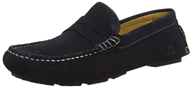 Chatham ESCAPE Mens Leather Slip On Casual Comfort Driving Loafers Shoes Black