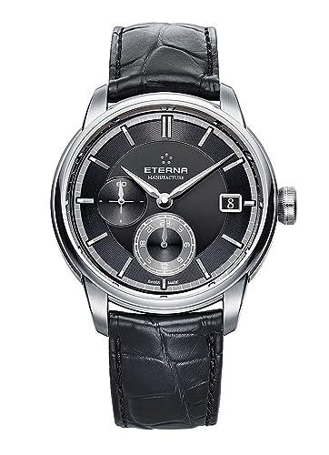 Eterna - adventic GMT Manufacture Fecha - Reloj de pulsera analógico automático para hombre 7661.41.46.1324: Amazon.es: Relojes