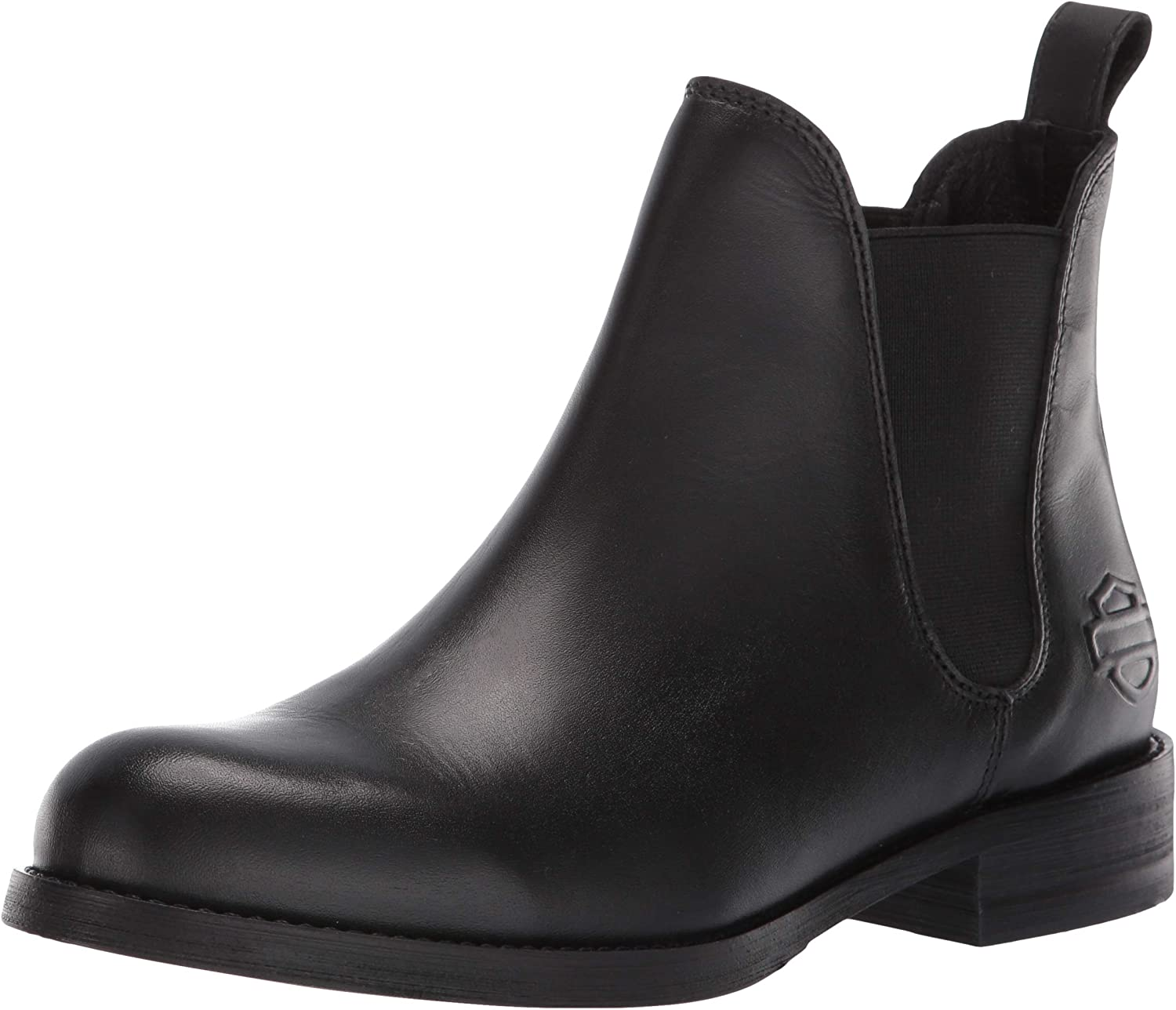 LADIES HARLEY DAVIDSON DELANO D84408 PULL ON BLOCK HEEL CASUAL ANKLE BOOTS SIZE