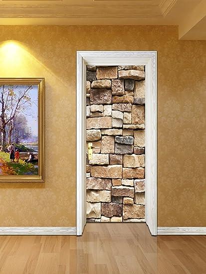 Door Murals Peel And Stick.Zhiyu Art Decor Stone Peel And Stick Wallpaper Brick Wallpaper 3d Door Wallpaper Decal Door Murals Contact Paper Self Adhesive Wallpaper Shelf Paper
