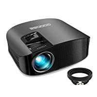 Projector, GooDee 2020 Upgrade HD Video Projector Outdoor Movie Projector, 230
