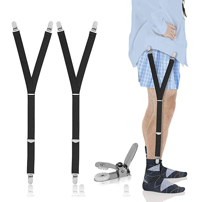 Apparel Accessories 1 Pair Fashion Elastic Adjustable Legs Belts Suspenders For Men Shirt Stays Suspenders Mens Clothes Accessories