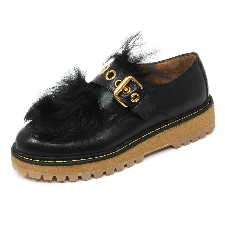 size 40 5d1c4 aa10c Car scarpe B9672 Scarpa Donna Scarpe Pelo Nero scarpe scarpe ...