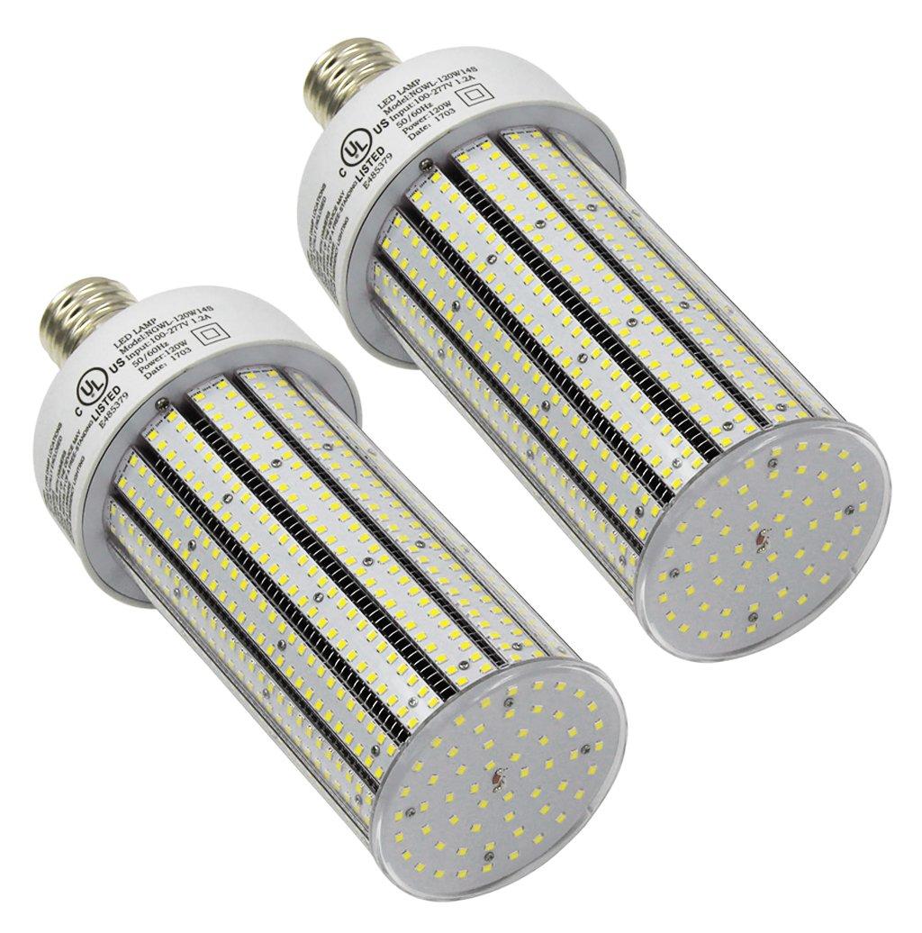 Qty 2 cc120 – 39 LED釣りドックPost LEDライトe39 6500 Kホワイト120 W ( 720 Wに相当) B077BM5TS8