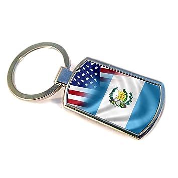 Amazon.com: PREMIUM – Llavero con bandera de Guatemala y EE ...