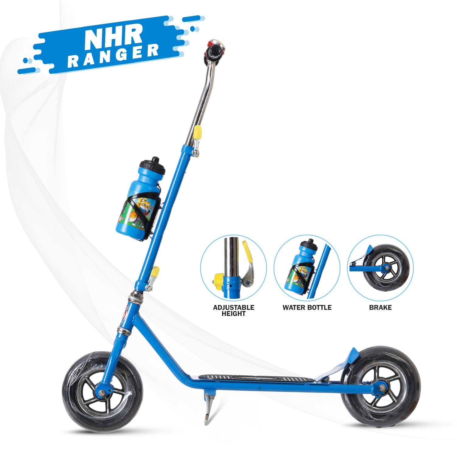 NHR Foldable 2 Wheel Heavy Duty Scooter (For Kids Upto 10