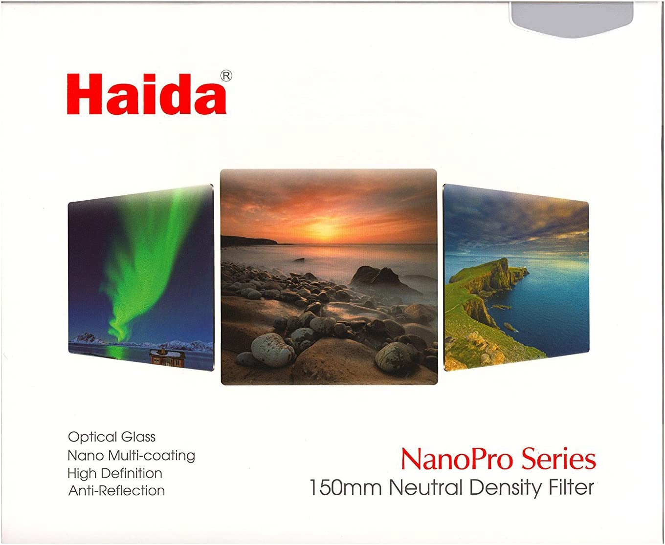 Haida NanoPro 150mm MC Neutral Density ND16 ND 1.2 Optical Glass Filter 150 4 Stop HD3323