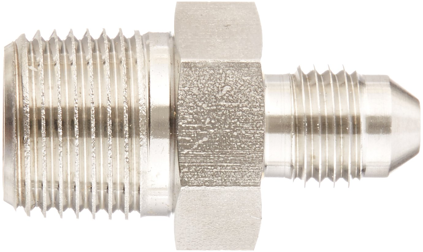Flare-Twin Fitting JIC 3//8 NPT Male x 1//4 JIC Male Adapter Eaton Weatherhead 5217X4X6 Stainless Steel SAE 37 Degree
