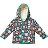 Piccalilly Organic Cotton Unisex Navy Blue Fox Print Hooded Poncho