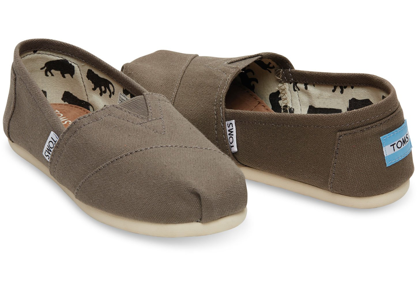 TOMS Women's Classic Canvas Slip-On,Ash,9.5 M US by TOMS