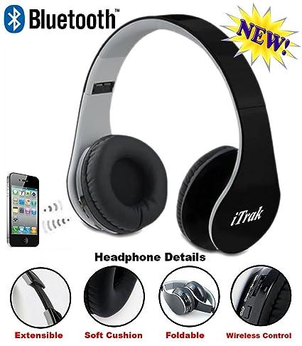 Amazon.com: itrak auricular bluetooth inalámbrico; over Ear ...