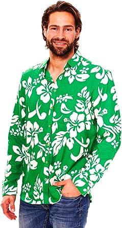 Original King Kameha | Funky Camisa Hawaiana Señores | XS-6XL |Manga Larga Bolsillo Delantero | impresión De Hawaii| Hibisco: Amazon.es: Ropa y accesorios