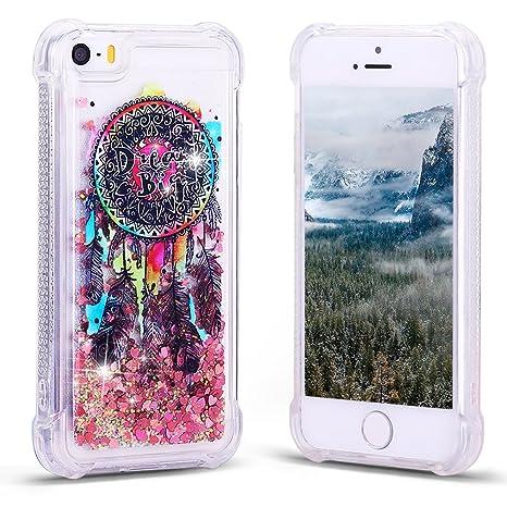 Funda iPhone SE, Carcasa para iPhone 5S Silicona, RosyHeart ...