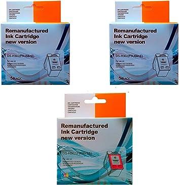Pack 3 Unidades 2 Cartuchos Tinta HP 302 Negro + 1 Cartucho Tinta HP 302 Color: Amazon.es: Electrónica