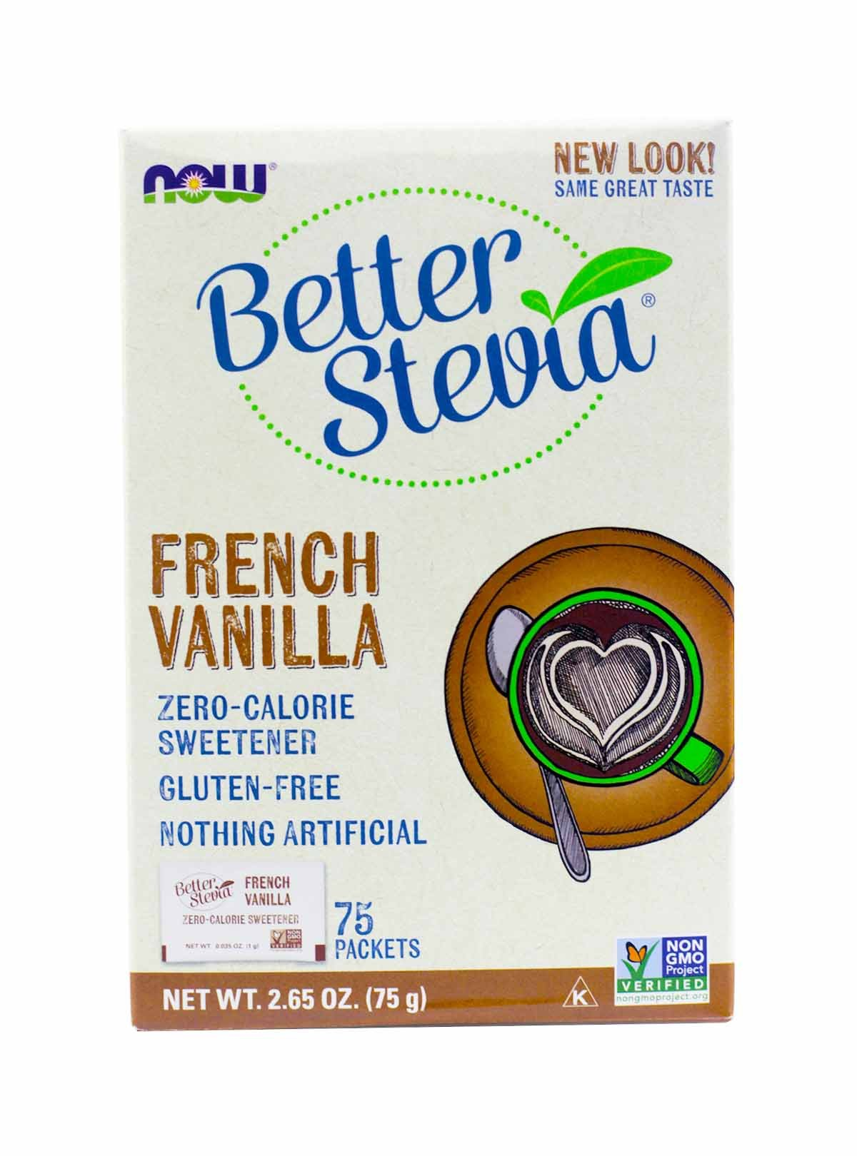 Now Foods French Vanilla Stevia, 75 Ct, 2 Pack by NOW Foods