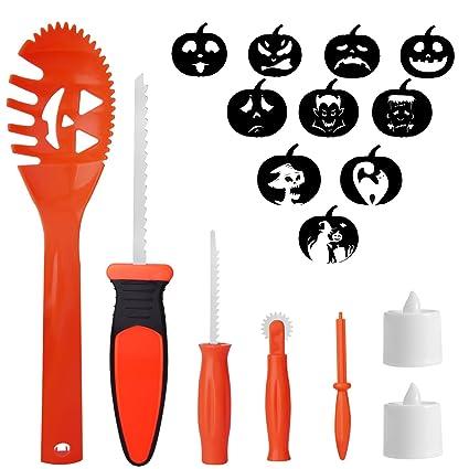 skinosm pumpkin carving kit for kids 5 easy halloween pumpkin carving tools set 2