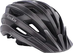 NESSKIN Adult Bike Helmet CPSC Certified Light Helmet, Bicycle Helmet for Men Women Road Cycling & Mountain Biking with Detachable Visor