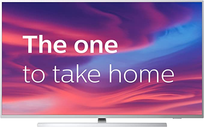 Philips 50PUS7304/12 50-Inch 4K UHD Android Smart TV with Ambilight and HDR 10+, Works With Alexa - Bright Silver (2019/2020 Model) [Amazon Exclusive] [Energy Class A]