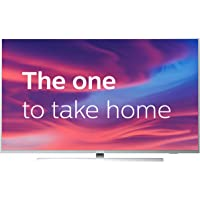 Philips 55PUS7304/12 55-Inch 4K UHD Android Smart TV with Ambilight and HDR 10+, Works With Alexa - Bright Silver (2019/2020 Model) [Amazon Exclusive]