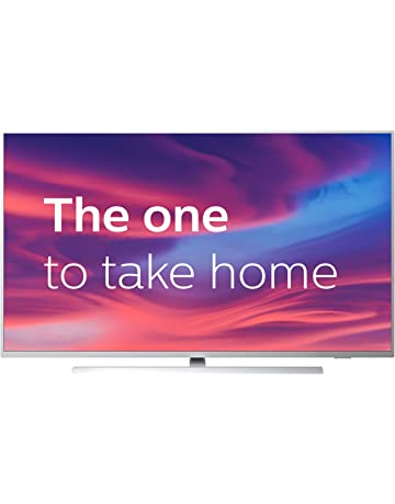 Philips 43PUS7304/12 43-Inch 4K UHD Android Smart TV with Ambilight and HDR 10+, Works With Alexa - Bright Silver (2019/2020 Model) [Amazon Exclusive] [Energy Class A]