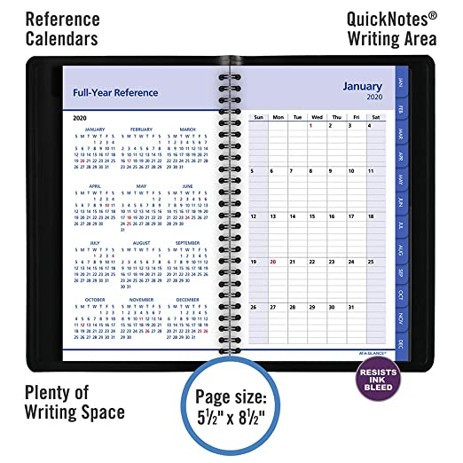 Amazon.com: AT-A-GLANCE - Cuaderno de citas para ...