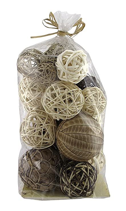 Assorted Natural Decorative Balls Vase Filler 19 Count Amazon