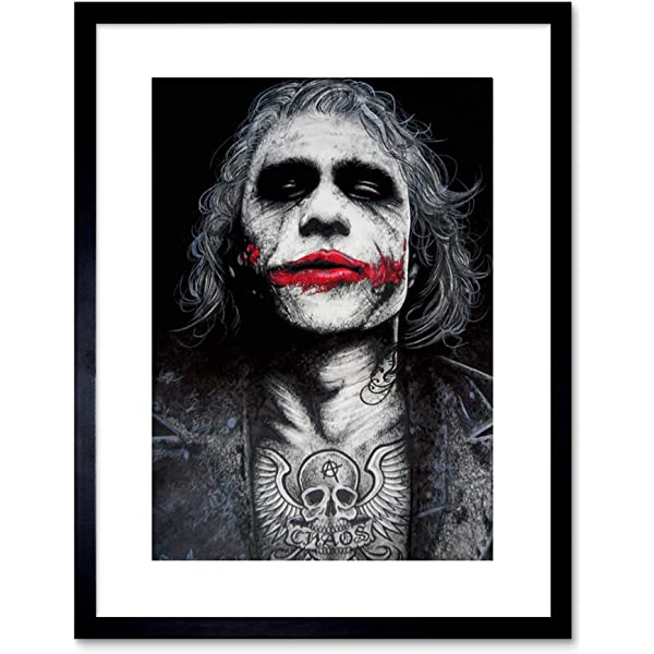 JOKER Quotes Batman Movie Icon Framed Canvas Print ~ More Size ~