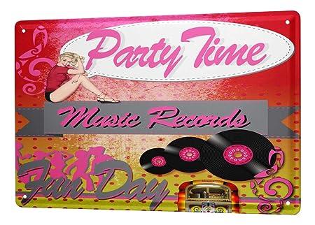 Cartel Letrero de Chapa XXL Diversíon partytime Jukebox ...