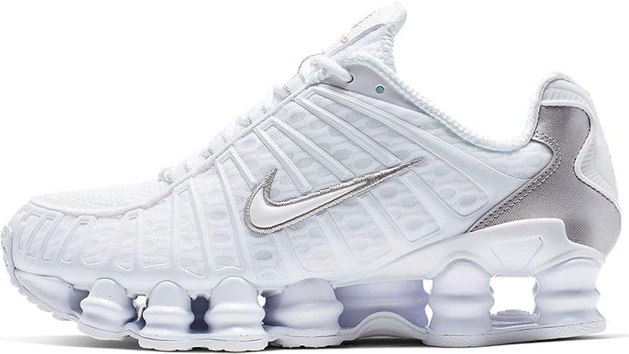 Nike Women's Shox TL AR3566 100, White/Metallic Silveer Size ...