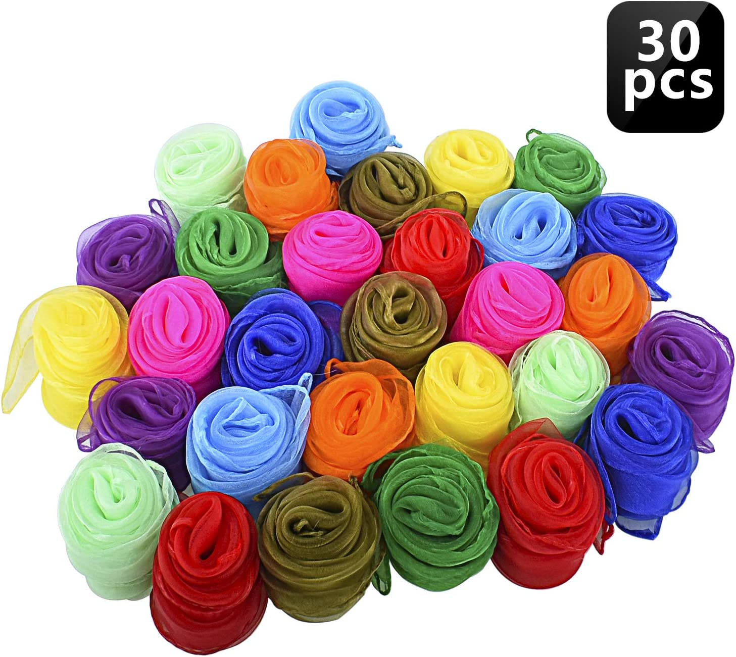 2pc Dance Scarves Juggling Mixed-coloured Sensory Toy For Toddler//Kid.dr