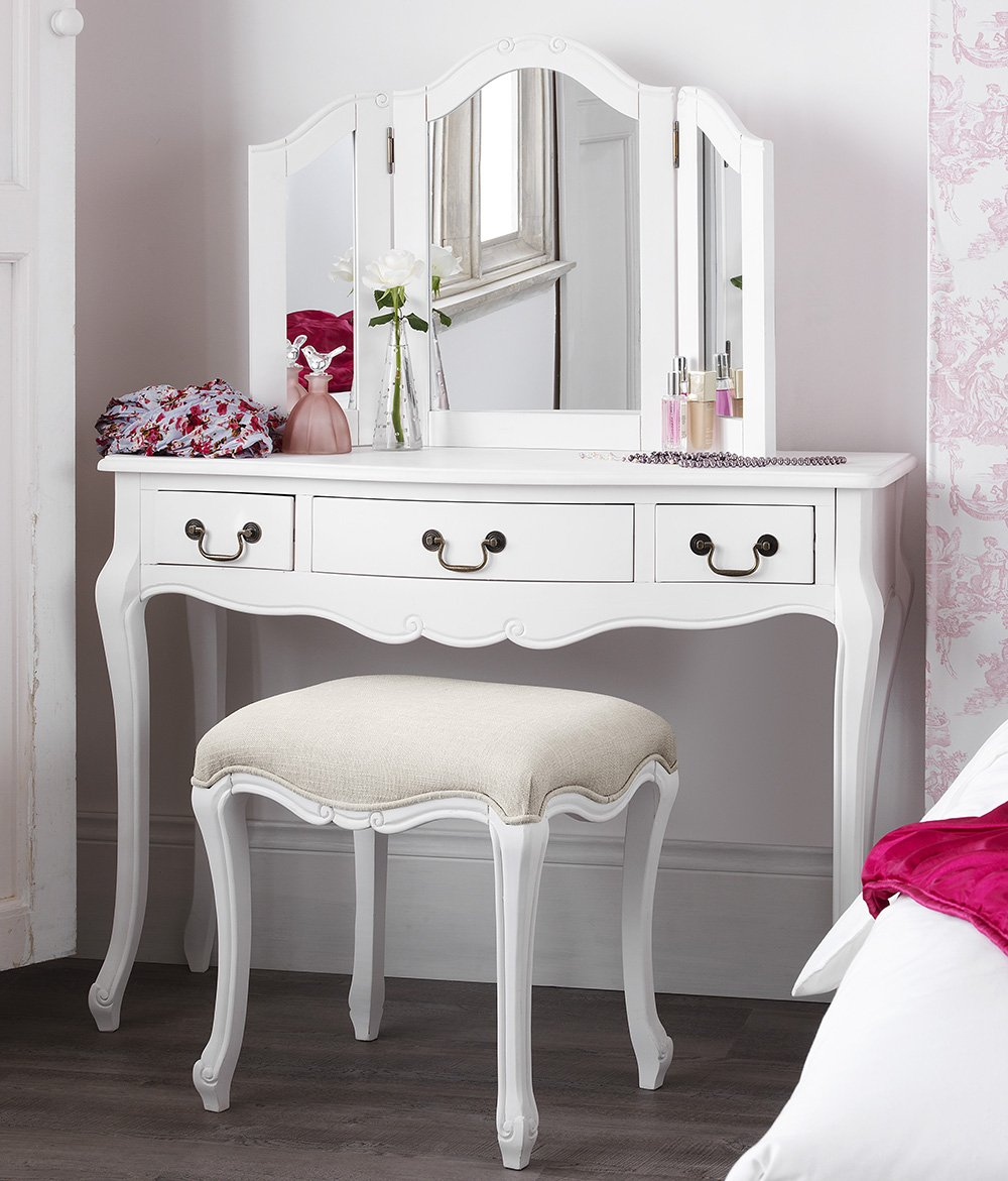 Juliette Shabby Chic Antique White Dressing Table Mirror ONLY ...