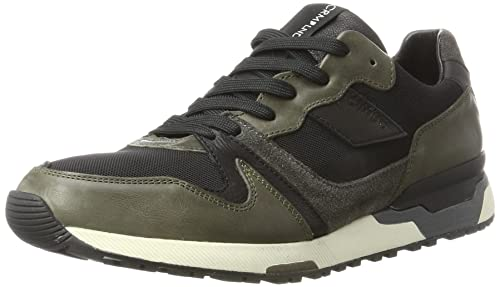 CRIME London Mens 11705a17b Low-Top Sneakers Green (Oliv) 7.5 UK