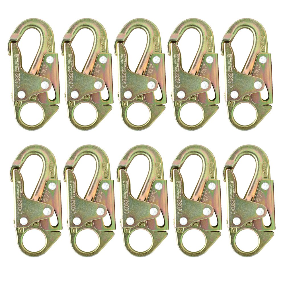 Fusion Climb Maxi-2 High Strength Carbon Steel Drop Forged Snap Hook 10-Pack