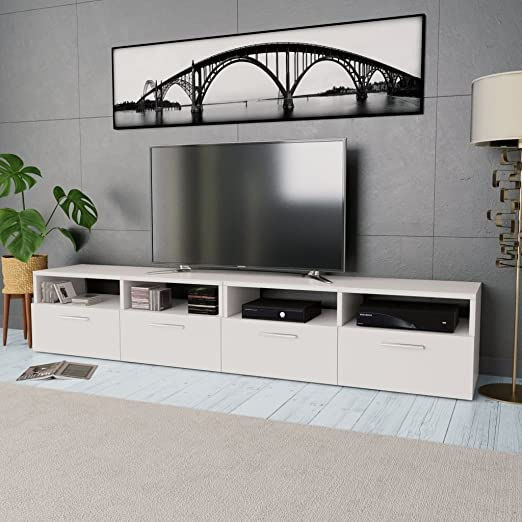 UnfadeMemory 2 Piezas Mueble para TV,Mesa para TV para Salón ...