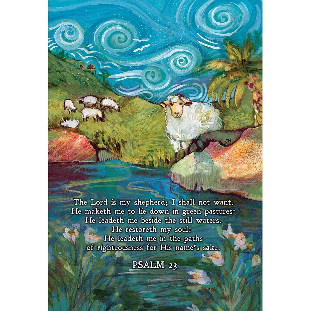 Dicksons Lord Is My Shepherd Blue 18 x 13 Inch Small Polyester Garden Flag