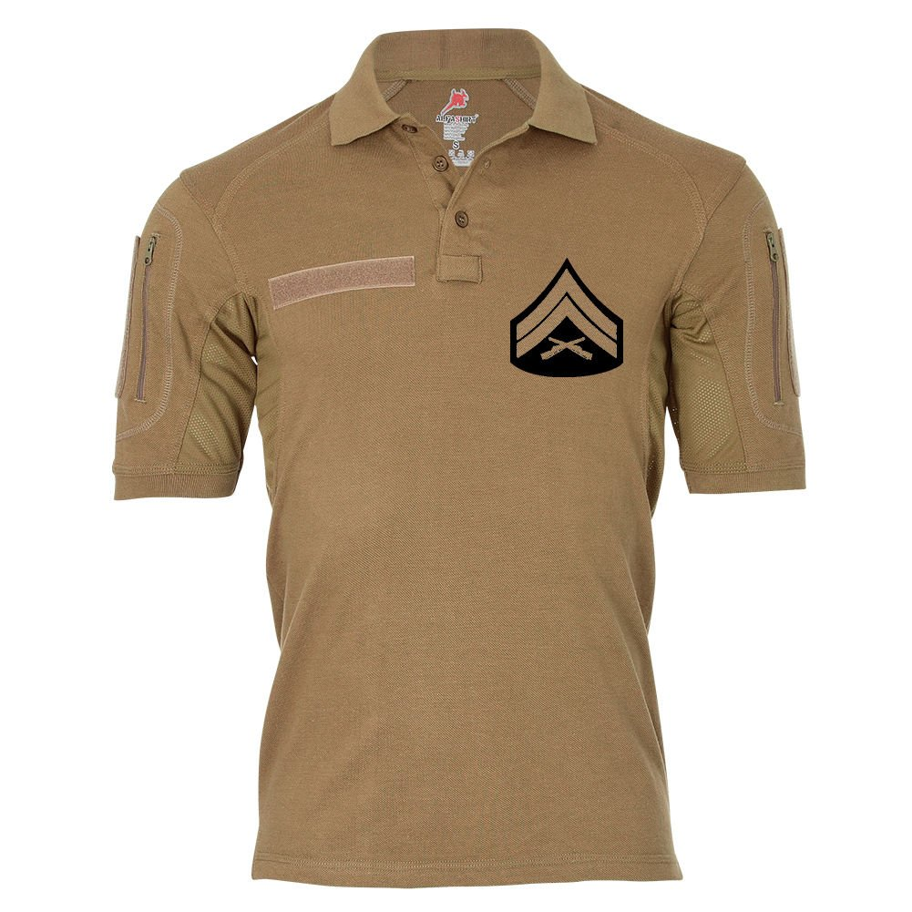 Tactical Poloshirt Alfa - Corporal United States Army USA Unteroffizier Dienstgrad Polo Shirt  19035