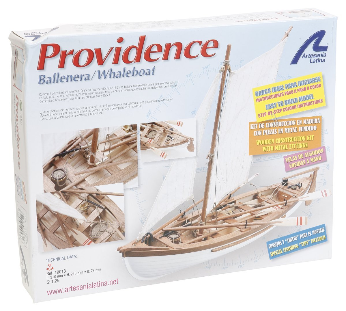 Wooden Model Ship Kit  New England's Whaleboat PROVIDENCE