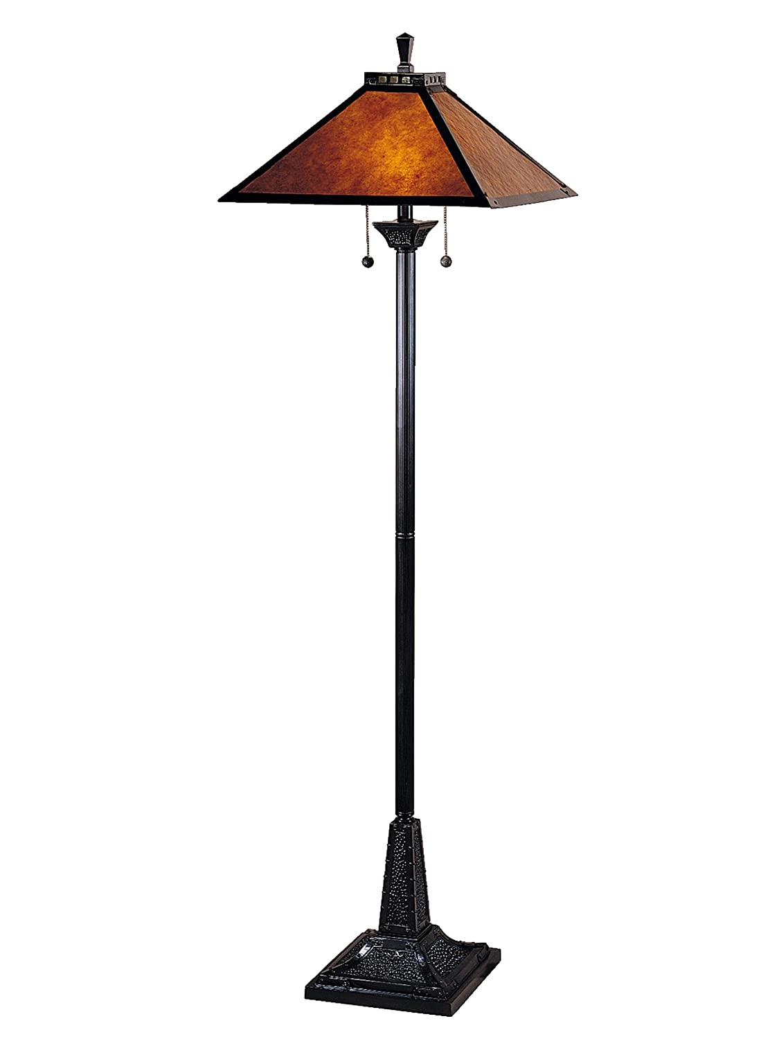 Dale Tiffany TF100176 Mica Camelot Floor Lamp, Mica Bronze and Mica Shade