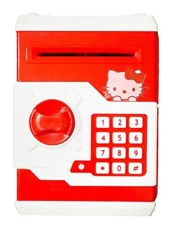 10f03b949 Buy Mini Electric Secret Password Safe ATM Piggy Bank Money Deposit Box Toy  (Hello Kitty) Online at Low Prices in India - Amazon.in