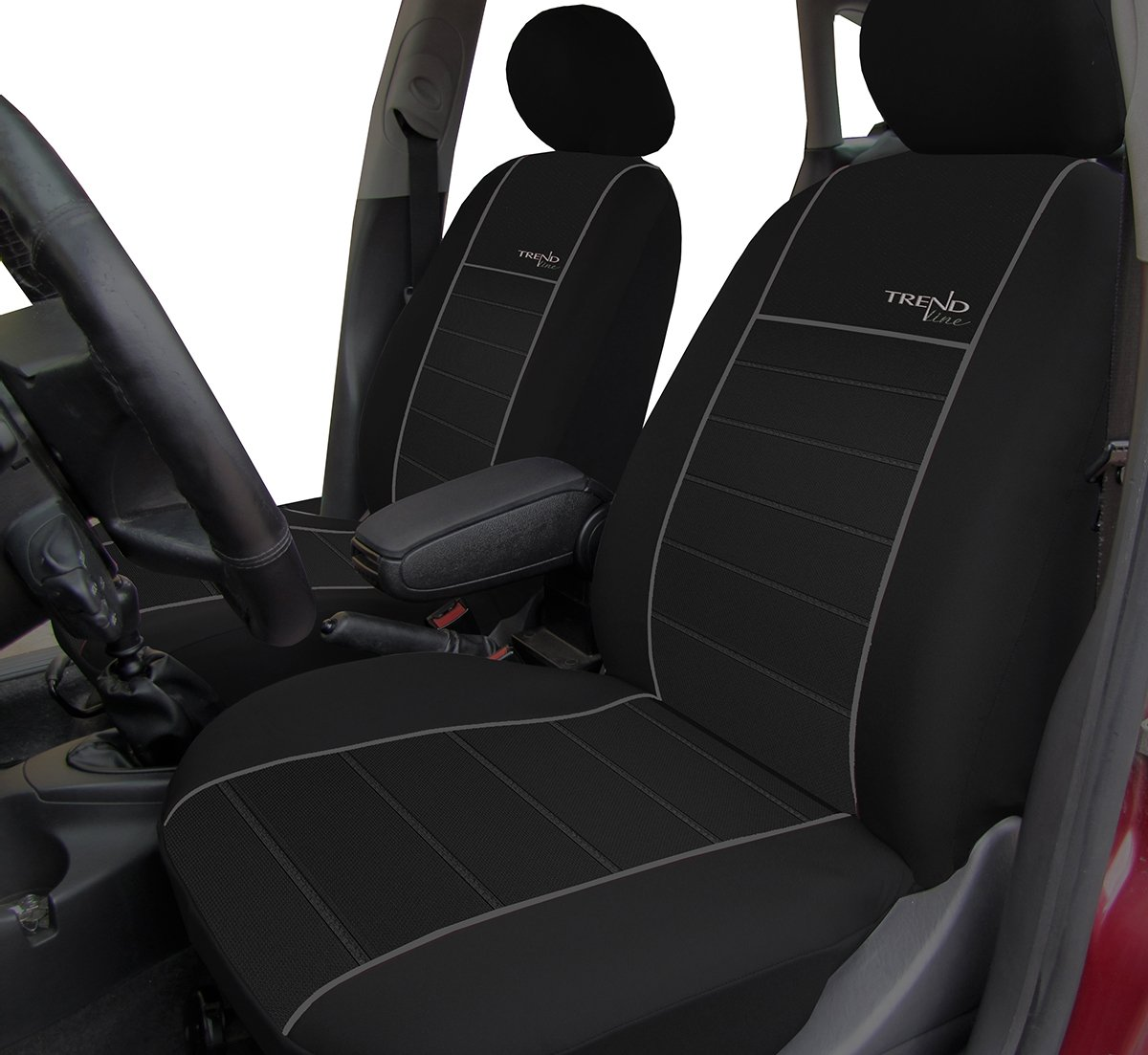 Schonbez/üge TREND LINE passend f/ür FIESTA / In diesem Angebot ROT. Mk1-Mk7 Autositzbez/üge - Universal Stoffsitzbezug zum SONDERPREIS!!