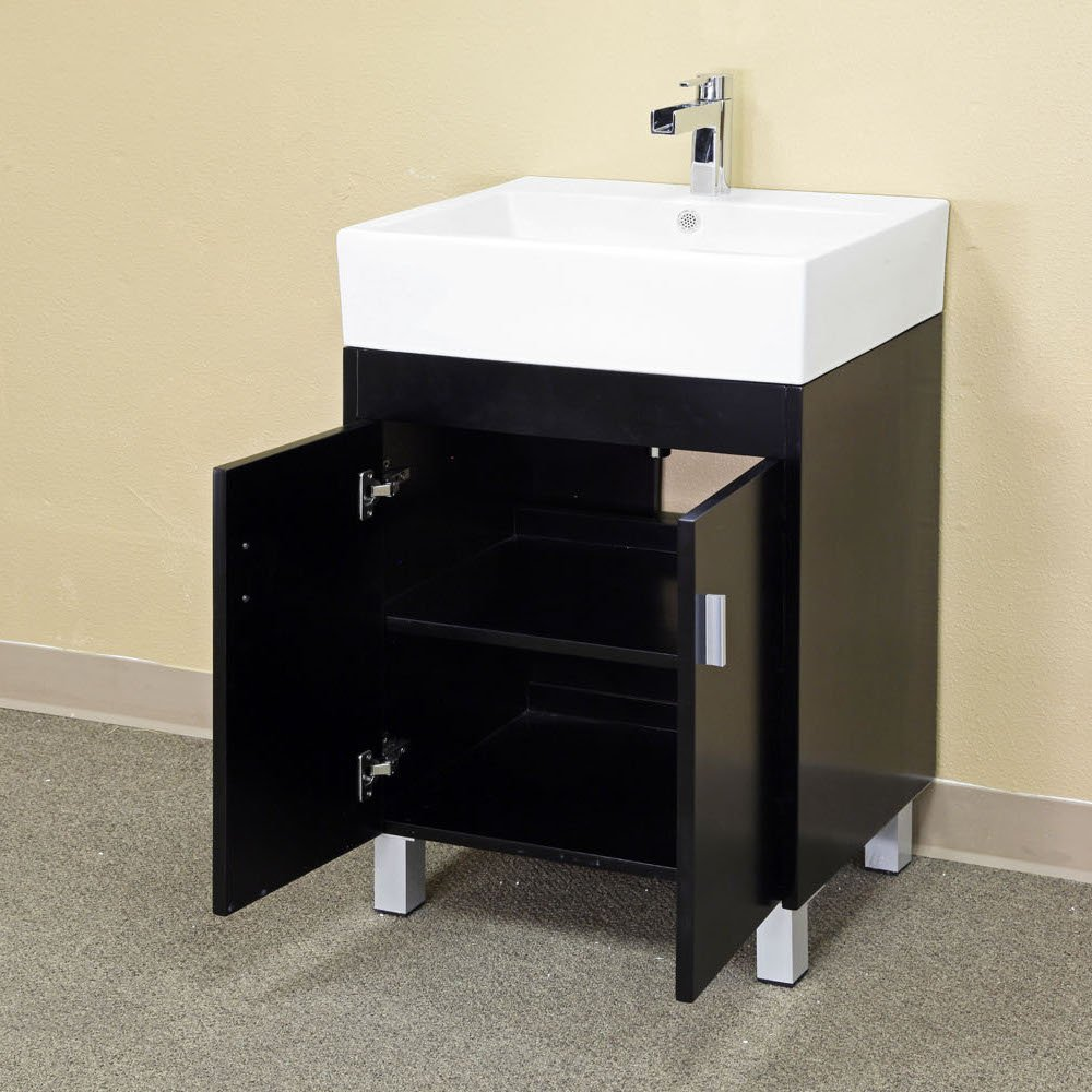 Bellaterra Home 203146 22.8 Inch Single Sink Vanity, Wood, Dark Espresso      Amazon.com