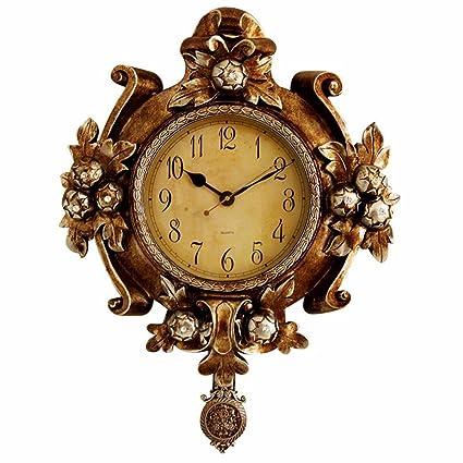 Reloj De Pared Reloj De Péndulo De Reloj De Pared Retro Creativo Hogar Tranquilo Ambiente De