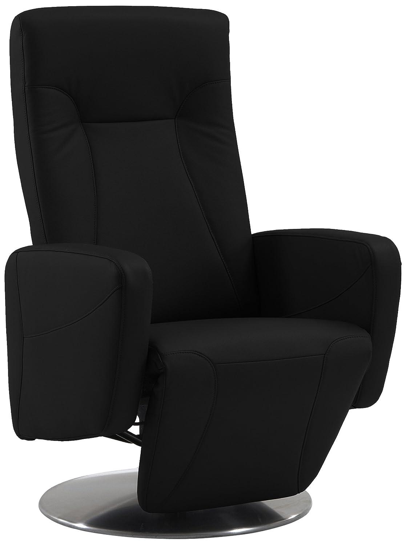 Sino-Living SE-814 Relax- und Ruhesessel in Dickleder, schwarz mit motorischer Verstellung