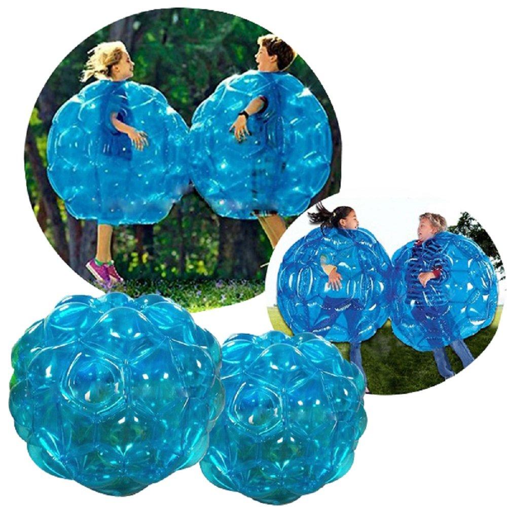 Bubball Pelota de burbuja / Bola hinchable/ para niños/ Dimensiones 90cm /Amortigua caídas y choques /Juego futbol/ Resistente PVC / Big ball football Soccer/Juego deporte (90cm, azul)