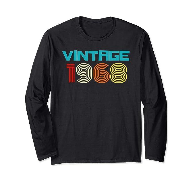 Unisex Vintage 1968 50th Birthday Long Sleeve Shirts 50 Yrs Old Small Black