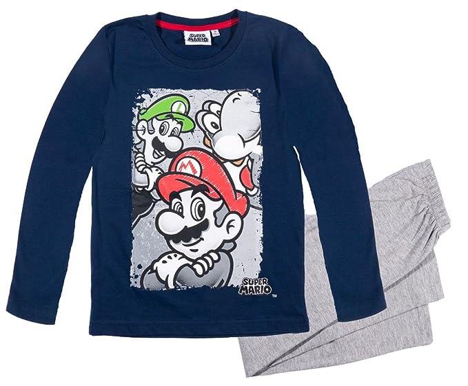 Mario Bros - Pijama dos piezas - para niño azul 10 Años