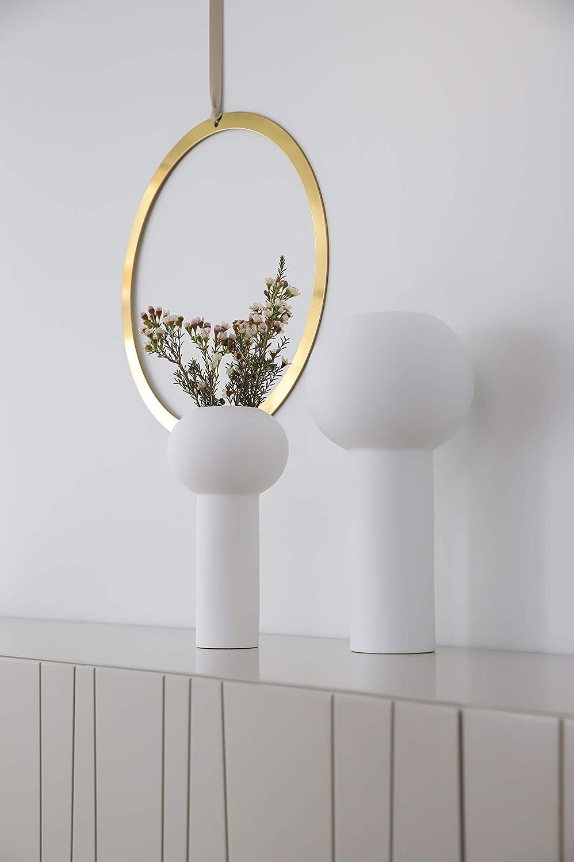 C/éramique H: 24 CM Blanc Cooee Design Vase /Ø : 12