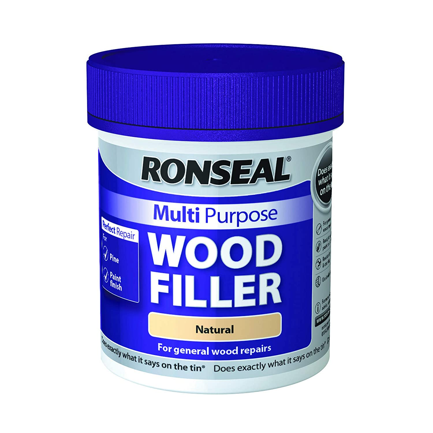 Ronseal Multi-Purpose Wood Filler - Natural 250g RSLMPWFN250G