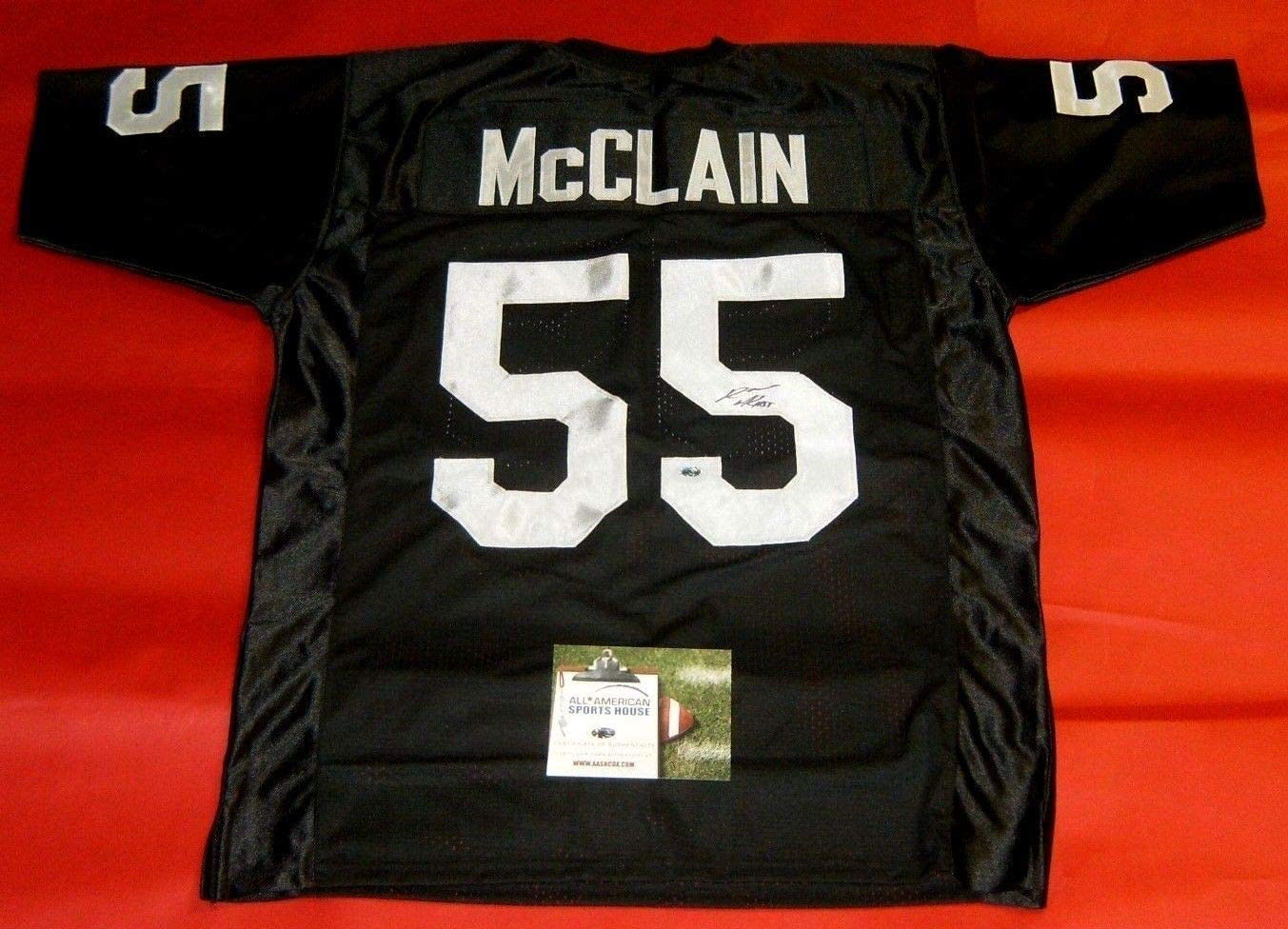 ROLANDO McCLAIN AUTOGRAPHED OAKLAND RAIDERS JERSEY AASH at ...